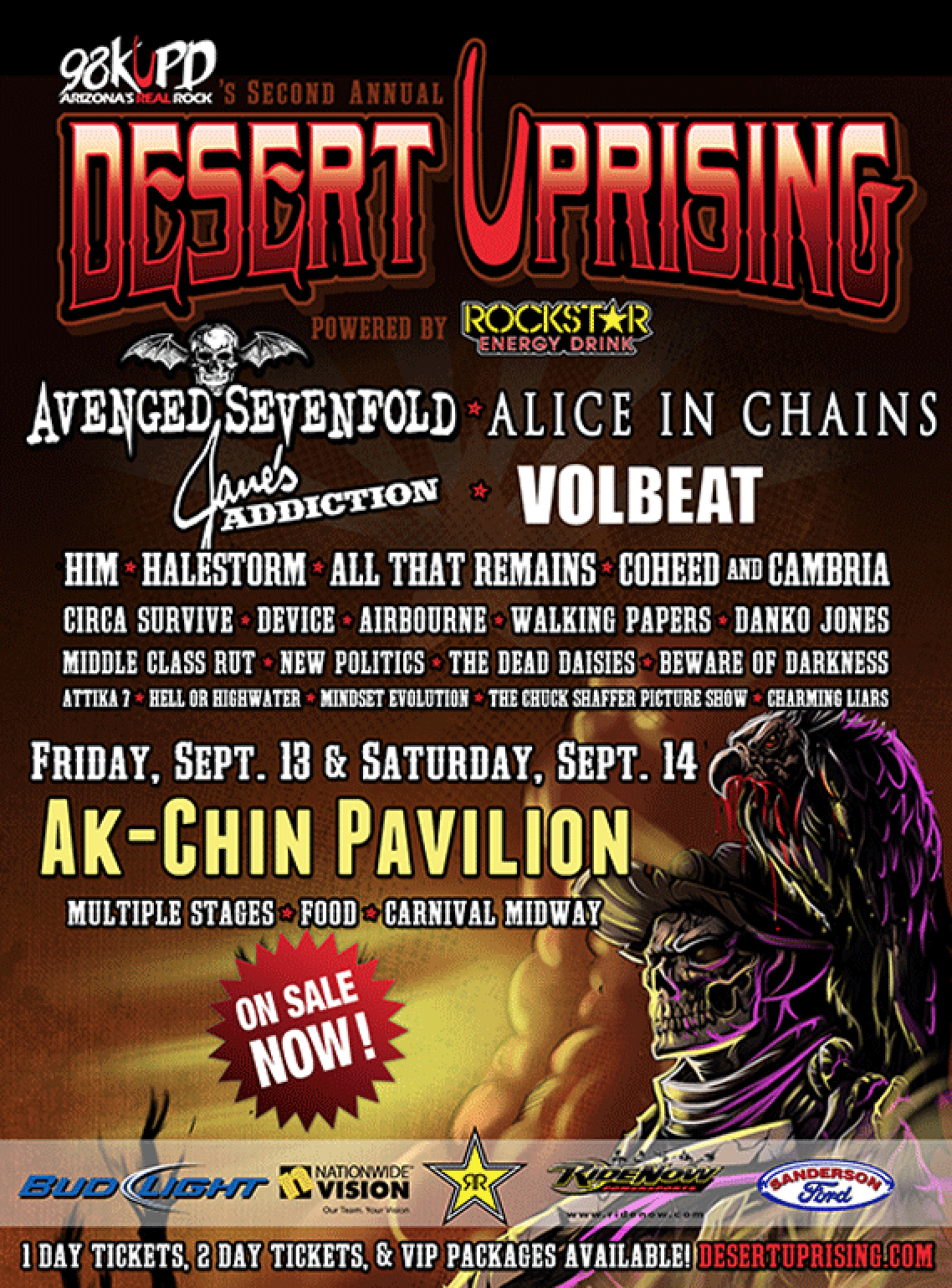 Desert Uprising Battle!  11pm Pub Rock Live
