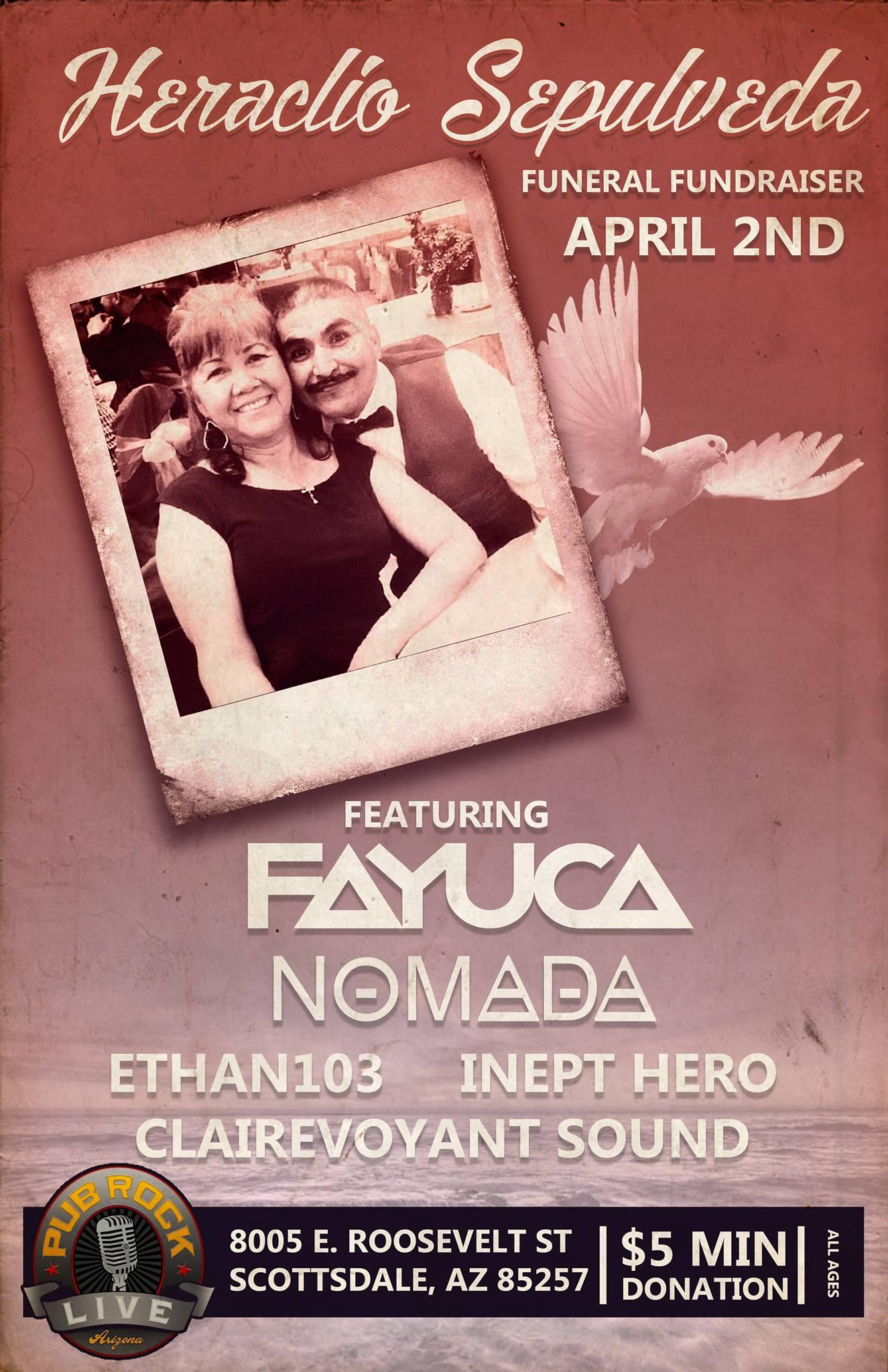 Scottsdale, AZ – LACO Funeral Fundraiser Feat. Fayuca/Nomada